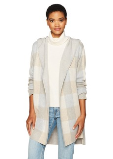 Calvin Klein Women's Plaid Sweater Jacket  S