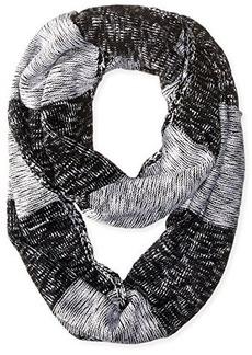 Calvin Klein Women's Plaited Stripe Infinity Scarf