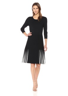 Calvin Klein Women's Pleated Short Sleeve Sweater Dress  S