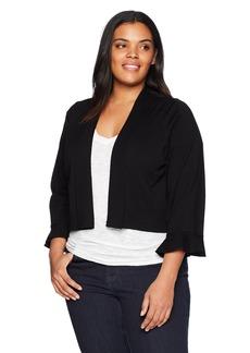 Calvin Klein Women's Plus Size ¾ Sleeve Knit Shrug