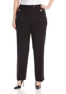 Calvin Klein Women's Plus Size 3 Pocket Suiting Pant  W