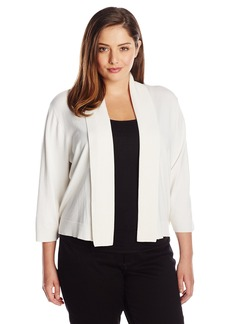 Calvin Klein Women's Plus-Size 3/4 Sleeve Shrug
