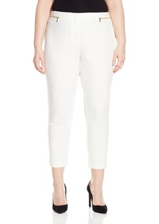 Calvin Klein Women's Plus-Size Ankle Pant with Zips  14W