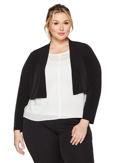 Calvin Klein Women's Plus Size Basic Jersey Shrug