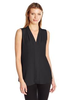 Calvin Klein Women's Plus Size Blouse W/Inverted Pleat