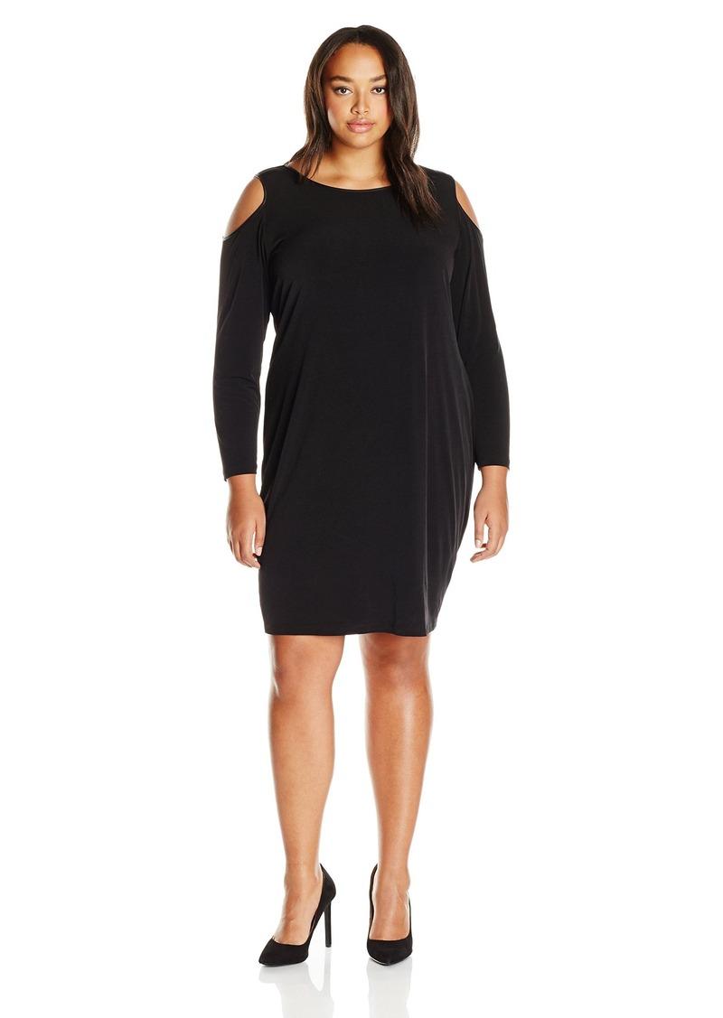 Calvin Klein Women's Plus Size Cold Shoulder Dress  2X