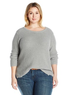 Calvin Klein Women's Plus Size Crewneck Lurex Sweater