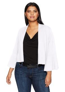 Calvin Klein Women's Plus Size Cropped Bell Sleeve Shrug  1X