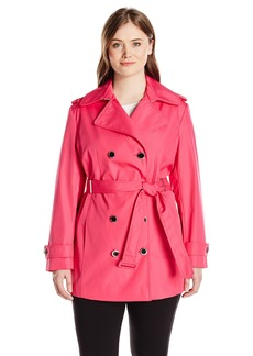 Calvin Klein Women's Plus-Size Db Trench Coat