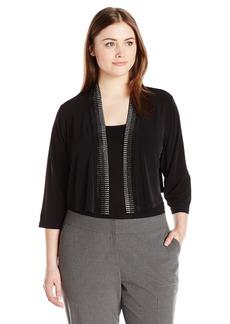 Calvin Klein Women's Plus Size Embellished Shrug