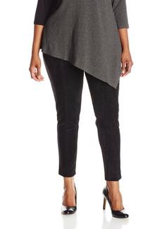 Calvin Klein Women's Plus-Size Essential Power Stretch Faux-Suede Front Legging