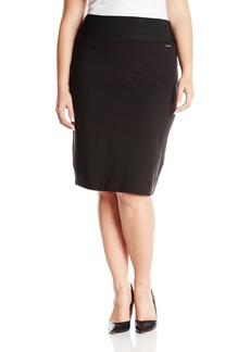 Calvin Klein Women's Plus Size Essential Power Stretch Pencil Skirt