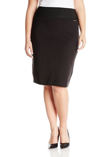 Calvin Klein Women's Plus Size Essential Power Stretch Pencil Skirt