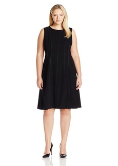 Calvin Klein Women's Plus Size Fit and Flare Sleeveless Dress  20