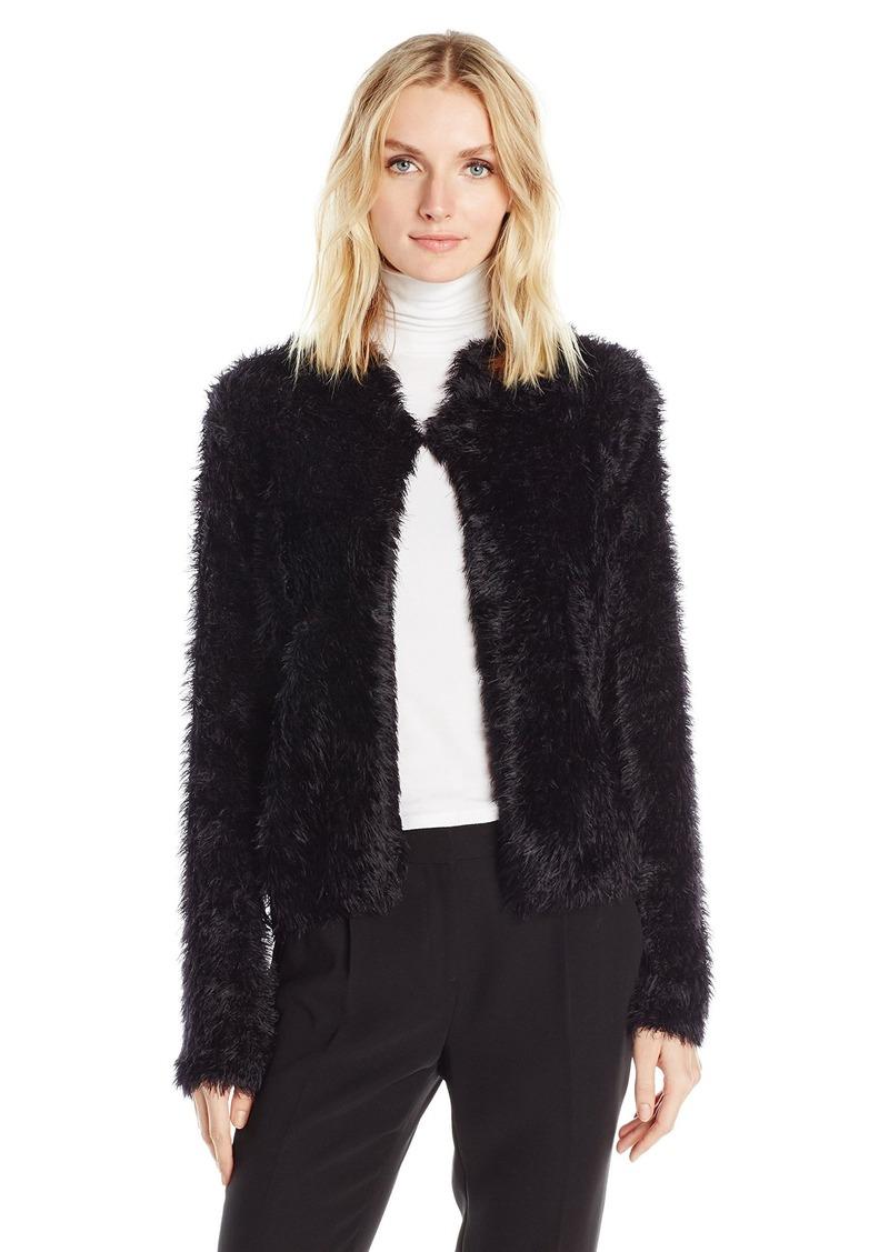 Calvin Klein Women's Plus Size Furry Open Cardigan