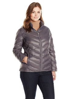 Calvin Klein Women's Plus-Size Lightweight Chevron Packable Jacket