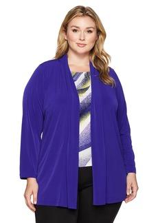 Calvin Klein Women's Plus Size Long Open Duster Jacket