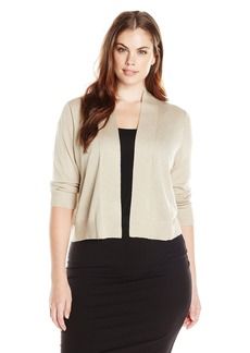Calvin Klein Women's Plus-Size Lurex Basic Shrug