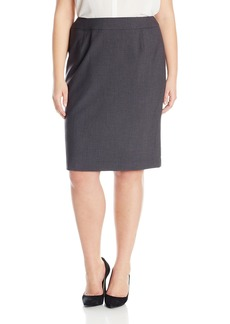 Calvin Klein Women's Plus Size Lux Straight Skirt