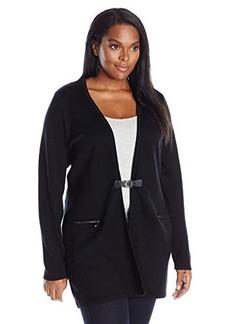Calvin Klein Women's Plus-Size Modern Essential Cardigan with Buckle