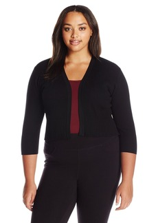 Calvin Klein Women's Plus Size Multi Rib Shrug