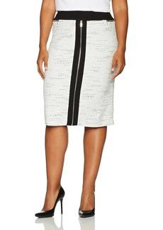Calvin Klein Women's Plus Size Pencil Skirt with Ponte