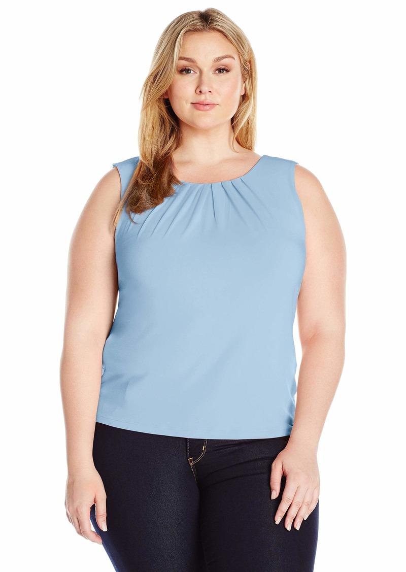 Calvin Klein Women's Plus Size Pleat Neck Cami