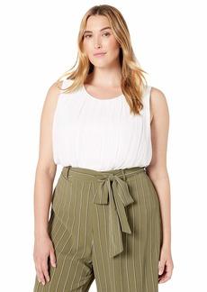 Calvin Klein Women's Plus Size Pleated Top