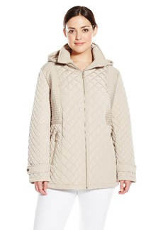 Calvin Klein Women's Plus-Size Quilted Jacket With Hood