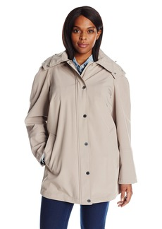 Calvin Klein Women's Plus Size Rain Anorak Cotton Jacket