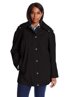 Calvin Klein Women's Plus Size Rain Anorak Cotton Jacket