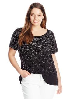 Calvin Klein Women's Plus Size Scatter Tee  2X