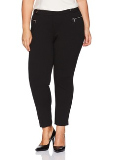 Calvin Klein Women's Plus Size Scuba Crepe Pant With Hardware