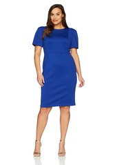 Calvin Klein Women's Plus Size Short Sleeved Sheath with Princess Seams Dress