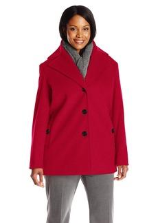Calvin Klein Women's Plus Size Single Breated Wool Coat