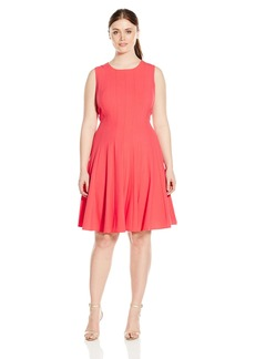 Calvin Klein Women's Plus Size Sleeveless Solid Flare Dress  22W