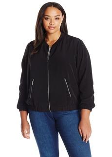 Calvin Klein Women's Plus Size Solid Bomber Jacket