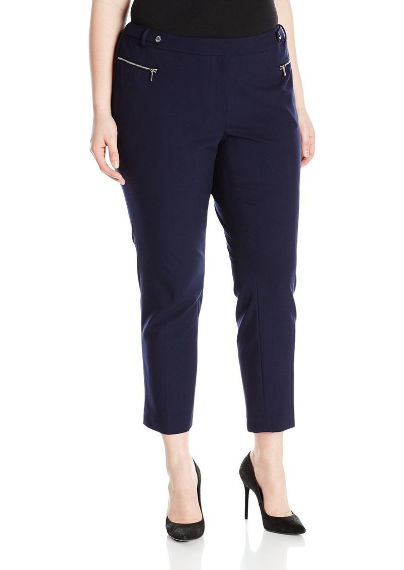 Calvin Klein Women's Plus Size Straight Pant W/ Hardware