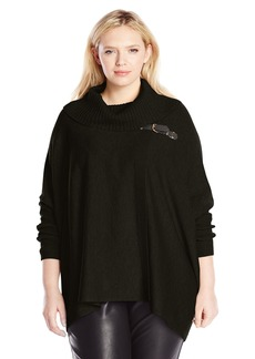 Calvin Klein Women's Plus-Size Sweater Cape With Buckle  0X/