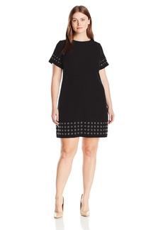 Calvin Klein Women's Plus Size T-Shirt Dress W/ Grommets  16W