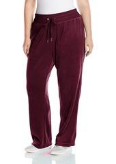 Calvin Klein Women's Plus Size Wide Leg Velour Pant