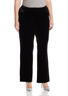 Calvin Klein Women's Plus Size Wide Leg Velvet Pant