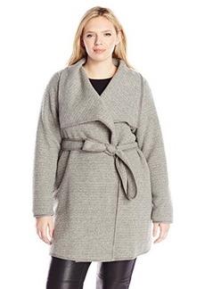 Calvin Klein Women's Plus-Size Wrap Jacket with Belt  0X