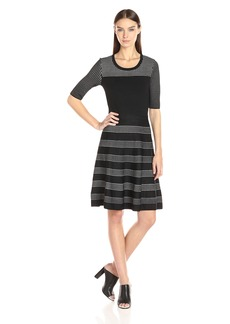 Calvin Klein Women's Pointelle Fit and Flare Dress  L