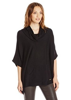 Calvin Klein Women's Poncho with Pocket  Large/X-Large
