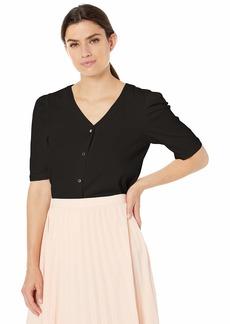 Calvin Klein Women's Poof Shoulder Blouse