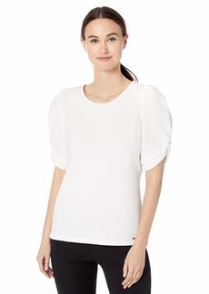 Calvin Klein Women's Poof Shoulder Fashion Top