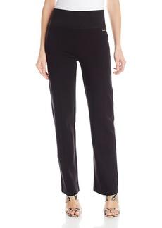 Calvin Klein Women's Power Stretch Wide Waist Straight Pant