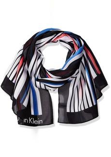 Calvin Klein Women's Print On Texture Scarf