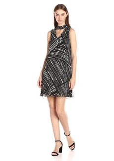 Calvin Klein Women's Printed Chiffon Midi Dress